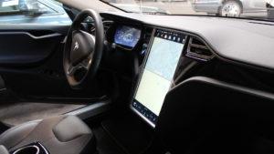 Tesla Bestattungswagen von innen