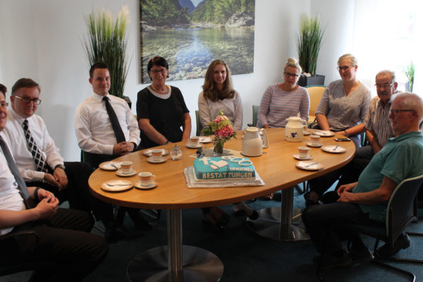 Kuchen essen mit unserem Team